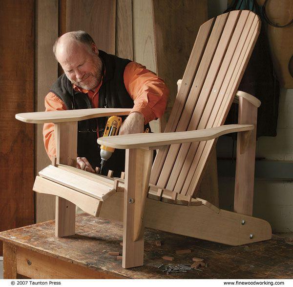 Build This Comfortable, Lightweight Version An American Classic, The  Adirondack Chair.   CLICK · Adirondack FurnitureAdirondack ChairsOutdoor ...