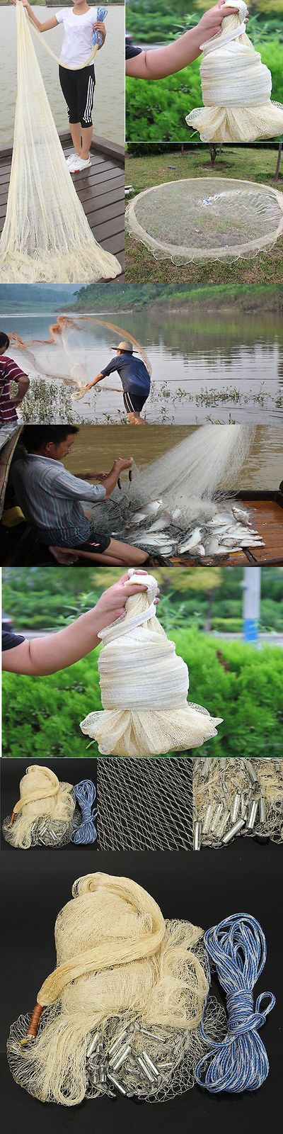 Nets 81458: 3 X 4M Big Fishing Nylon Monofilament Fish Gill Net Easy Throw For Hand Casting -> BUY IT NOW ONLY: $42.69 on eBay!