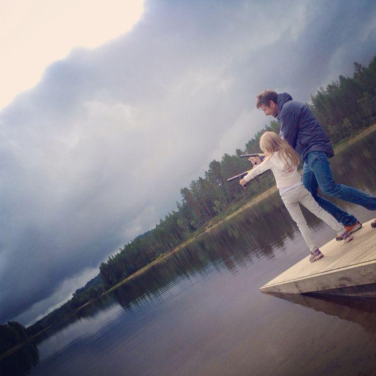 Funny! Frode and Tilde made toy guns #bergesjøen#elverum#norway