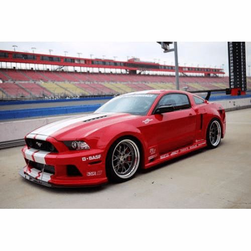 Fitment: Ford Mustang GT 5.0 2013-2014 The GT Widebody Aerodynamic Kit for the Mustang 5.0 gives an aggressive look while enhancing the smooth and subtle lines. This 10 piece kit helps to improve over