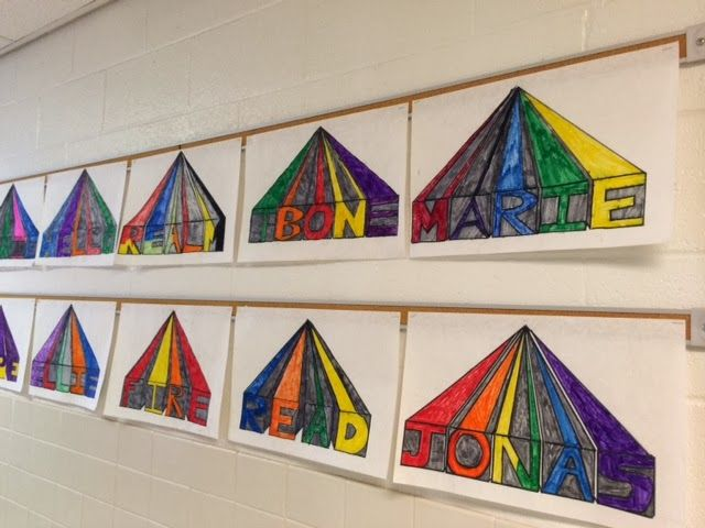 4th grade students had the opportunity to refresh their 1 point perspective skills by creating these fun words (of their choice)The Colorful Art Palette: Week 24 and 25 In the Art Room