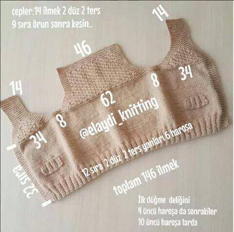 """Intersante chaleco a dos agujas [    """"Model""""  ] #<br/> # #Screenshots,<br/> # #Nene #Trico,<br/> # #Laren,<br/> # #Kerem #Vesaire,<br/> # #Fasulye,<br/> # #2017,<br/> # #Knitting #Tips,<br/> # #Stricken,<br/> # #Clothes<br/>"""
