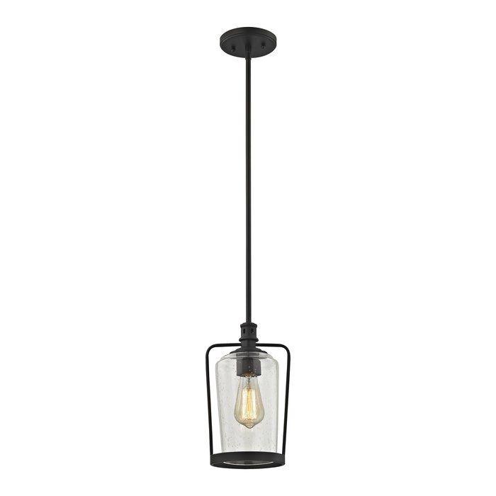 Bostwick 1 Light Cylinder Pendant Single Pendant Lighting Elk Lighting Pendant Lighting