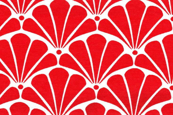 Outdoor-Stoff Spain Lounge - Riviera - Rot/Weiß