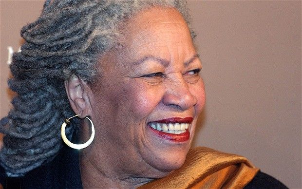 """Toni Morrison: """"She sits now, like a regal lioness, feet firmly planted on the marble floor in girlie turquoise bejewelled flats, looking me in the eye the entire time we speak."""""""