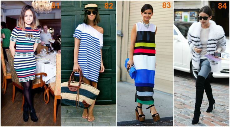 Miroslava Duma white stripes