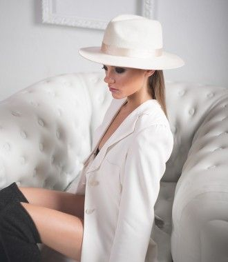 9d623506bc9b7 Ivory Bone Fedora by Lack of Color