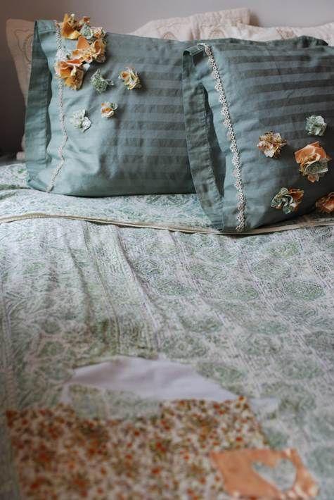 DIY bed linens: what sort of design would YOU do?  #DIY #bedlinens #bedroomdesign