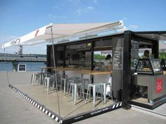 Image result for portable expandable shipping container restaurant