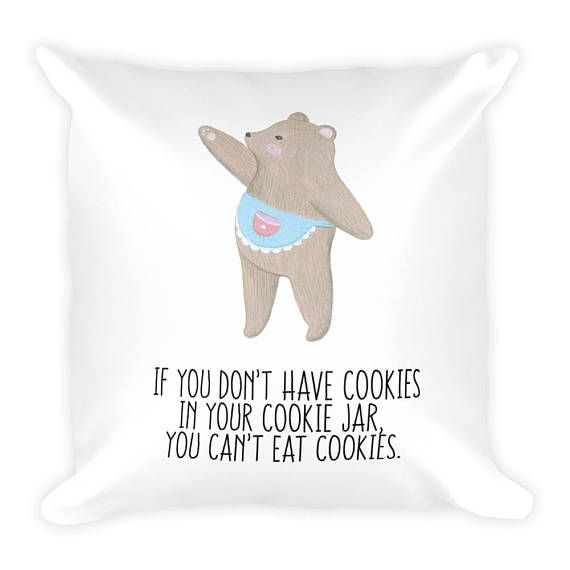 Mama Bear Cookies Couch Decor Stuffed Washable Removable Cover