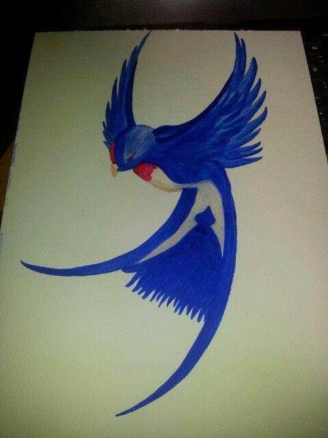 Watercolour swallow