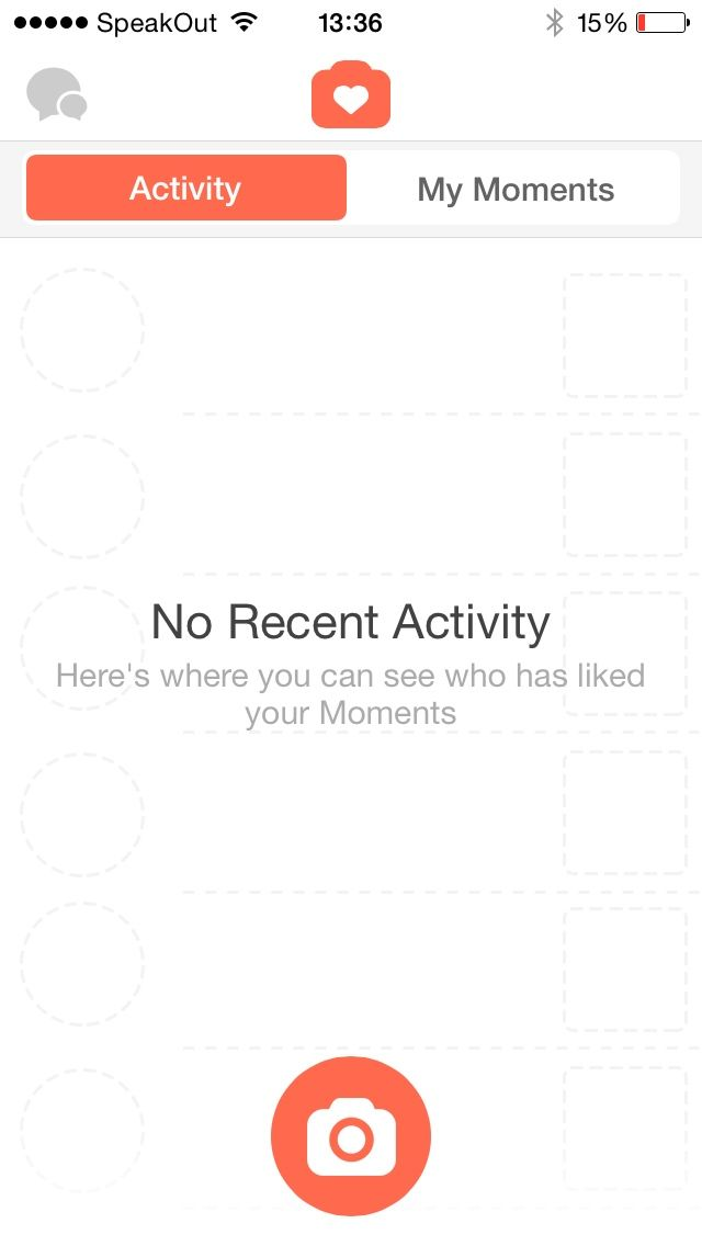 No recent activity in Tinder for iPhone