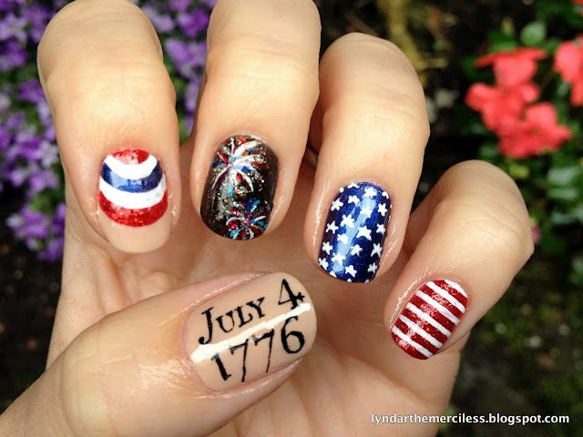 Coolest 4th of July nails I've ever seen!
