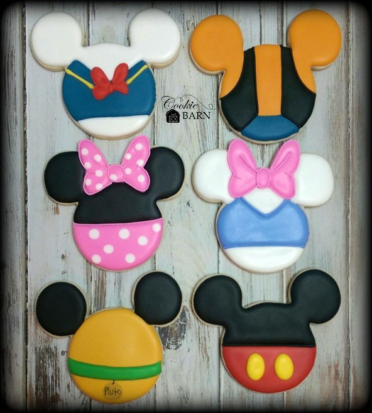 Mickey Mouse Clubhouse Decorated Cookies