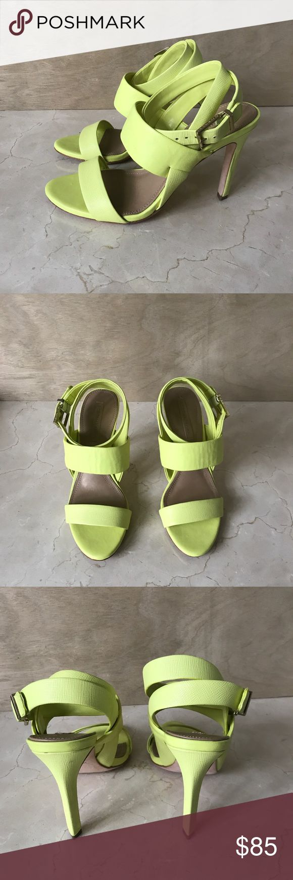 BCBG LIME GREEN SANDALS Worn twice, great for summer! BCBGMaxAzria Shoes Sandals