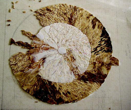 Progress  Title: Phoenix Stone Dream. Material: Petrified Wood. Artist: Michele Bluck