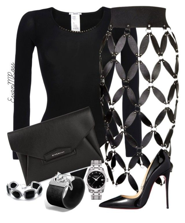Untitled #679 by irunaftergucci on Polyvore featuring polyvore fashion style Wolford Zana Bayne Christian Louboutin Givenchy John Hardy Tissot clothing
