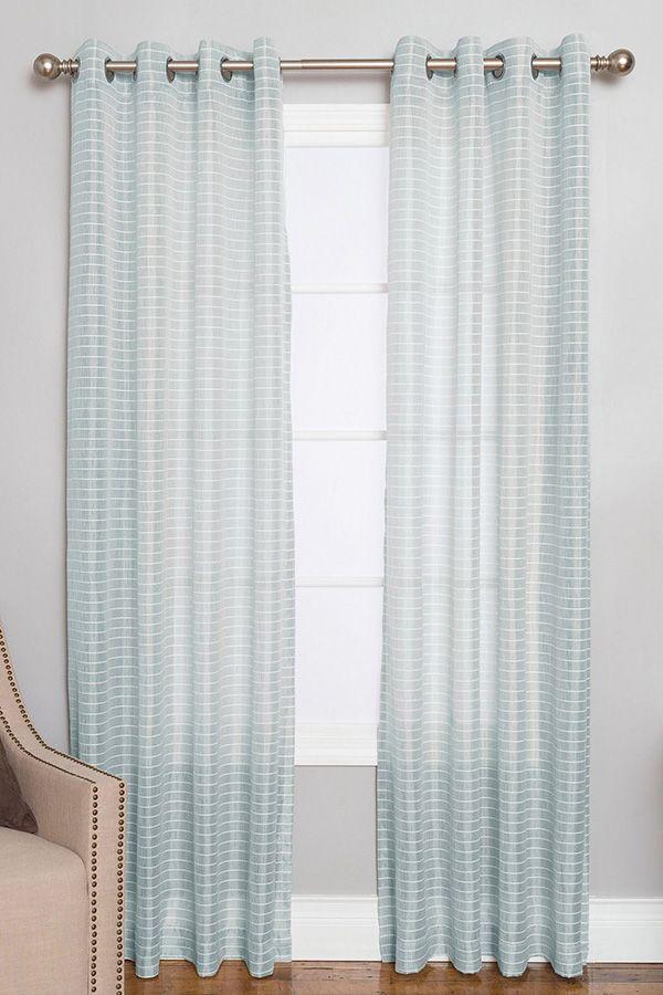 Berea Striped Semi Sheer Grommet Curtain Panel In 2020 Grommet