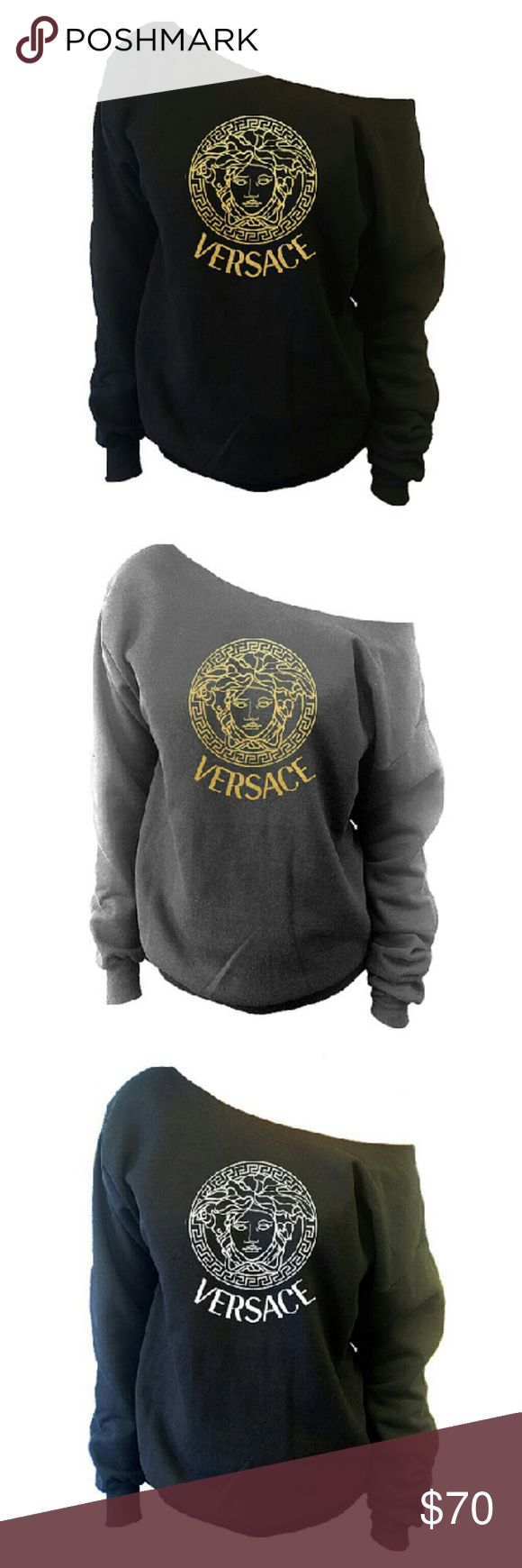 """Versce Shirt .Off The shoulder slouchy oversized. Versace Shirt 