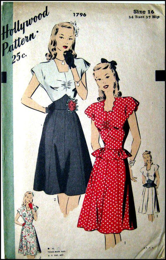 1940s glamour dress