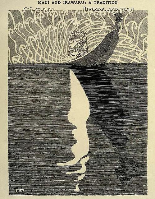 Wilhelm Dittmer - Te Tohunga 1907 - Maui and Irawaru