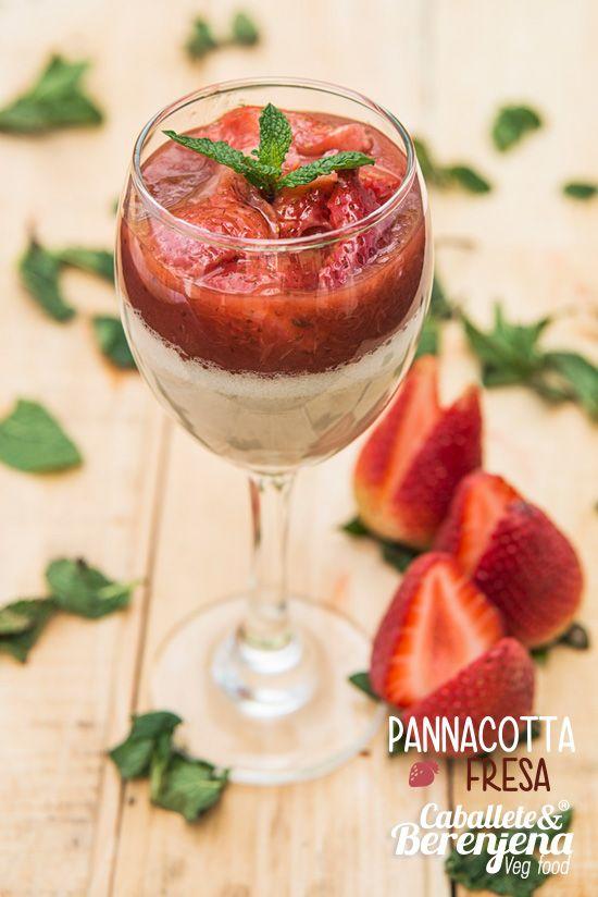 Pannacotta de Fresa Glutten free