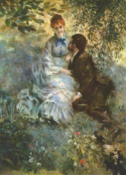오귀스트 르누아르(Auguste Renoir)의 연인 / 1880년경 / 나로드니 미술관 소장