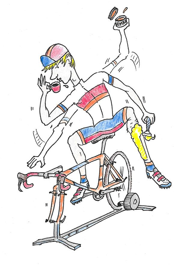 Cyclocross traditions: smart or silly? We talked to a wide variety of cycloross Elite racers to get their thoughts on cyclocross traditions. Illustration by Jeff Rosenhall