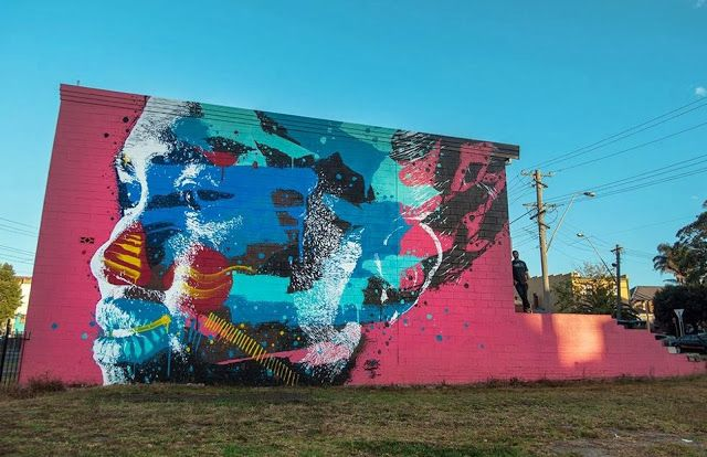 Street Art By Askew One For The Wonder Walls Festivals In Wollongong, Australia. 1