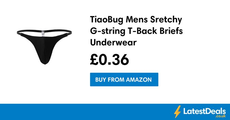 TiaoBug Mens Sretchy G-string T-Back Briefs Underwear, £0.36 at Amazon