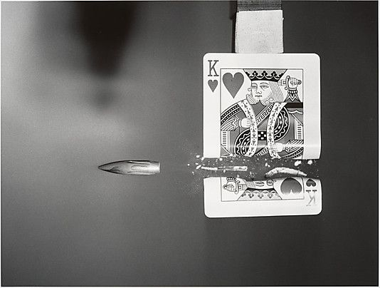 [Bullet Cutting Through Playing Card] Harold Edgerton