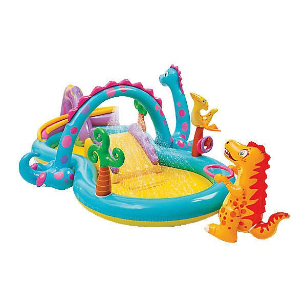 Intex Kinder Planschbecken Dinoland Riesieges Pool Center Garten Hit mit Rutsche