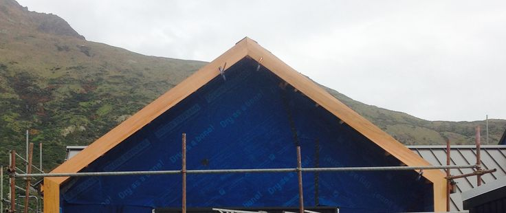 The Building Diaries Part 6. Cedar fascia, gable, alpine tray roof, solitex building wrap