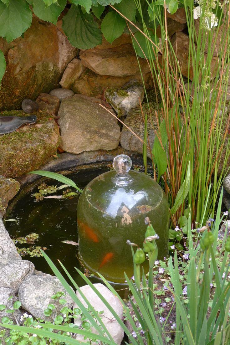 Glasglocke im Mini-Fischteich