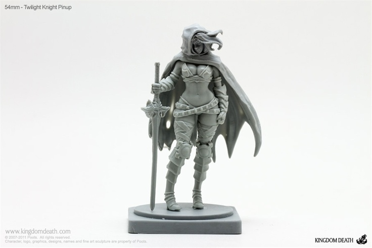 Kingdom Death 3D-printed miniatures; special 54mm scale on this one.: Kingdomdeath Com, Death 3D Printed, 3D Printed Miniatures, Kingdom Death, 3D Thumbnails