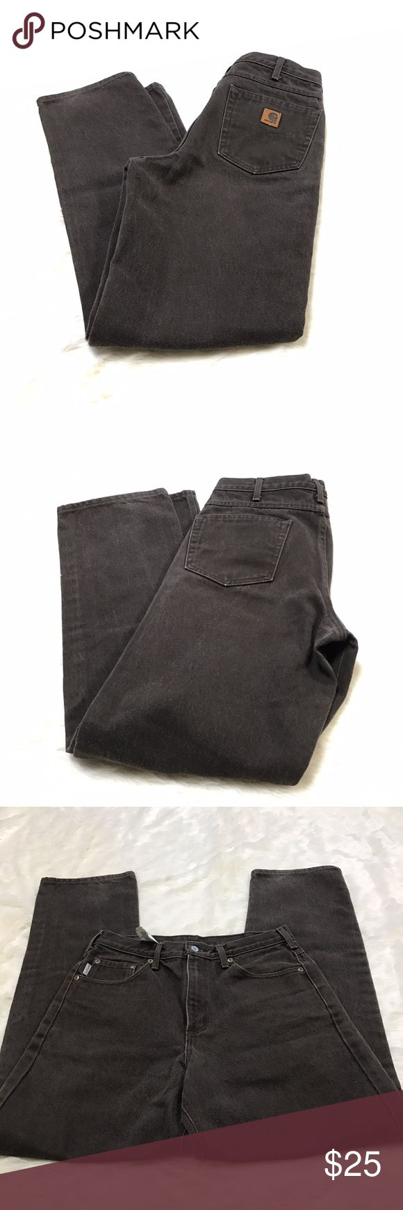 Men's Carhartt Pants 32x34 Brown Jean Relaxed Fit Good condition. No major flaws. See pics for measurements. Carhartt Jeans Relaxed