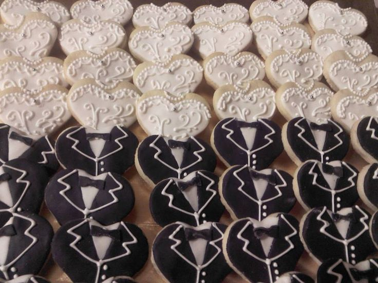 Brides & Grooms Wedding Cookies Ideas!