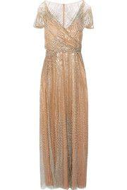 Jenny Packham Sequined τούλι φόρεμα