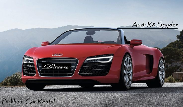Rent Audi R8 spyder from #ParklaneCarRental  To Rent Visit www.parklanecarrental.com