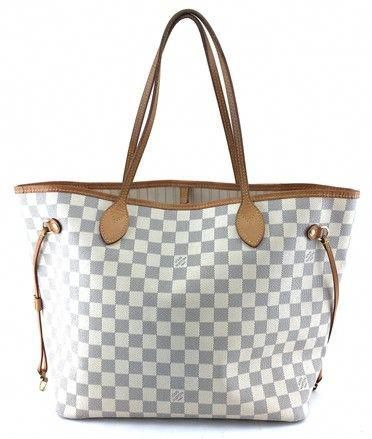 a5896c8bf33 ... Louis Vuitton Neo Neverfull 22163 New Model Classic Mm Tote Work Damier  Azur Coated Canvas Shoulder ...