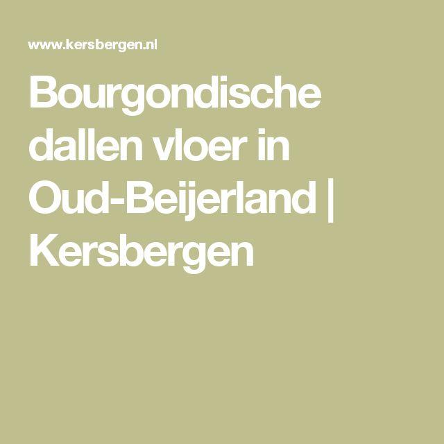 Bourgondische dallen vloer in Oud-Beijerland | Kersbergen