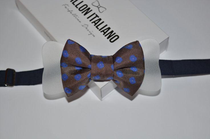 Papillon Italiano in Seta fiori fondo marrone con inserto in Plexiglass trasparente - Handmade 100% Made in Italy - Bowtie di PapillonItaliano su Etsy   #papillonitaliano #papillon #seta #silk #bowtie #handmade #madeinitaly #love #artigianale #accessory #uomo #donna #style #outfit #fashionblogger #man #men #woman #moda #fashion #style #shopping #shoponline #italianstyle #plexiglass #etsy #seta