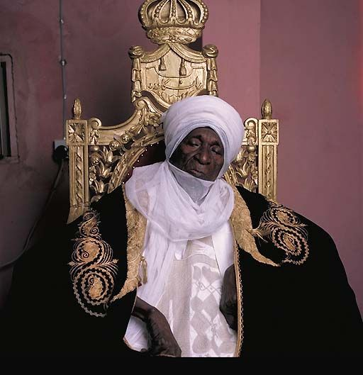 Abubakar Sidiq, Sultan of Sokoto, Nigeria.   This photo was taken 15 days before his death; he had reigned for more than 50 years.