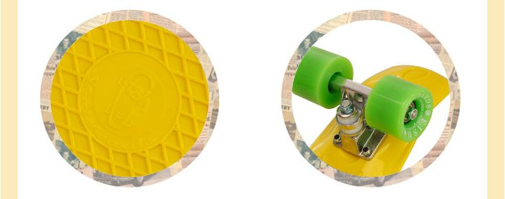 Skate Fish Skateboards Cruiser Amarelo e Verde 22''
