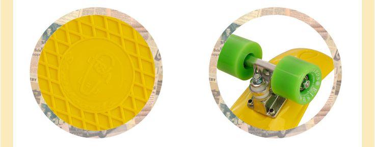 Skate Fish Skateboards Cruiser Amarelo e Verde 22''