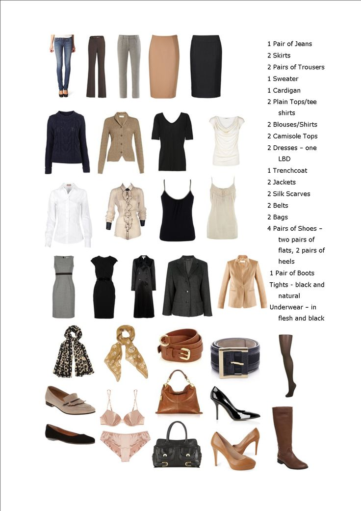 Basics of a capsule wardrobe