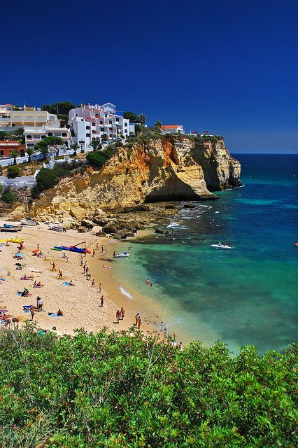 Summer in Carvoeiro, Algarve, Portugal