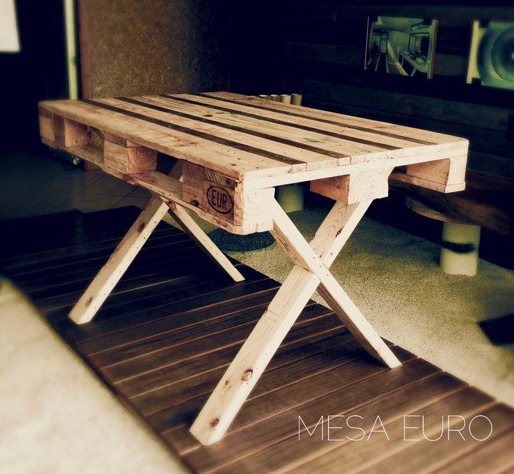 Mesa comedor con estiba y soporte en madera