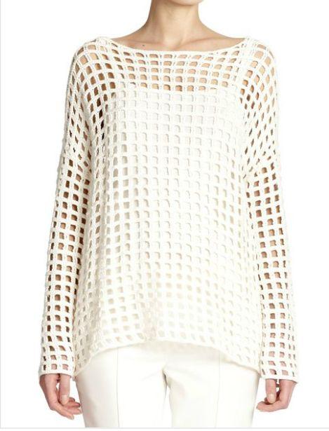 Grid-Knit Crochet Tunic