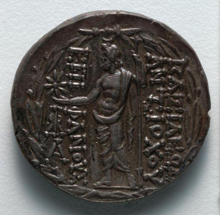 Tetradrachm: Zeus (reverse), 111-109 BC Greece, late 2nd Century BC  silver